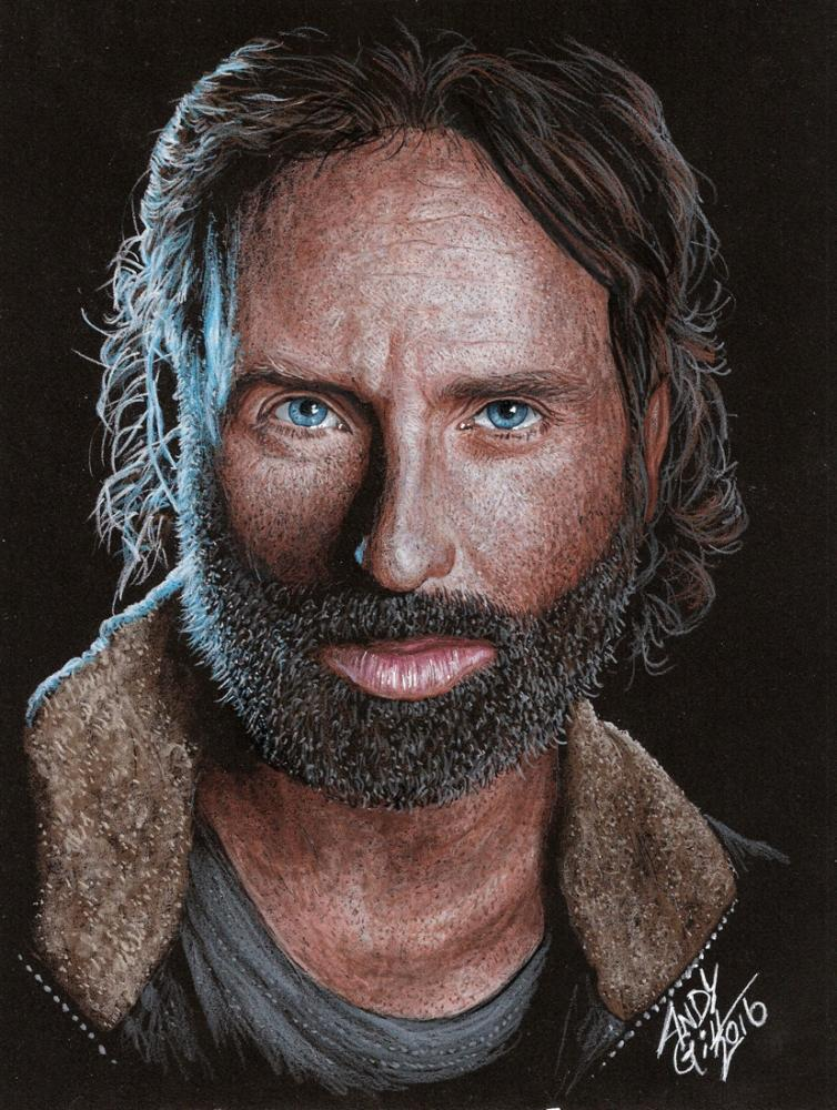 Portrait Of Andrew Lincoln By Andygill On Stars Portraits